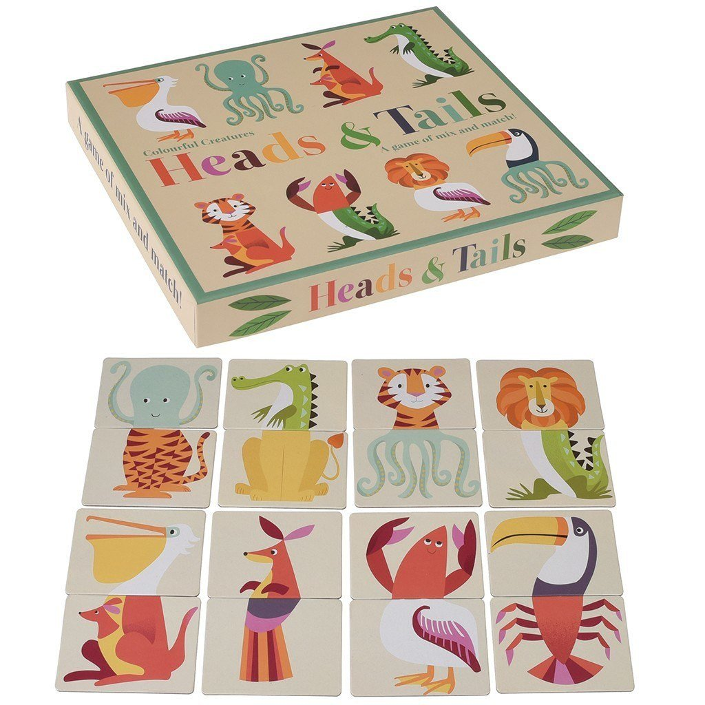 Colourful Creatures Head & Tail Game