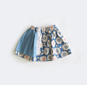 Denim Skirt | Floral Print