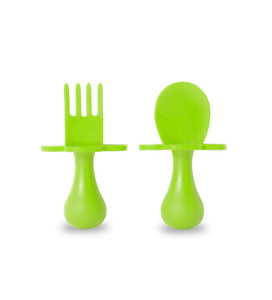 Grabease Spoon & Fork Set | Neon Green