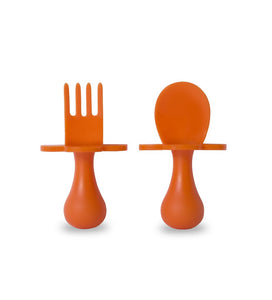Grabease Spoon & Fork Set | Orange