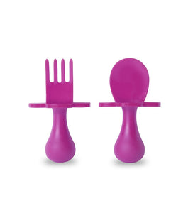 Grabease Spoon & Fork Set | Pink