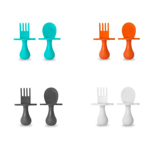 Grabease Spoon & Fork Set | White