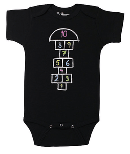 Hopscotch Onesie | Black