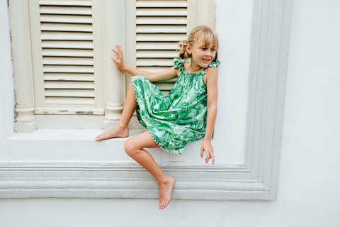 Lily Dress | Green Palm