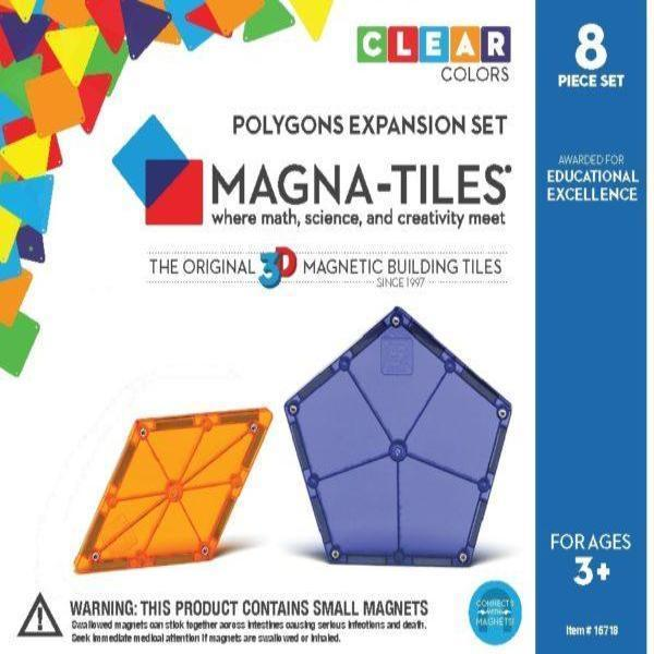 MAGNA-TILES Polygons 8 pc Expansion Set