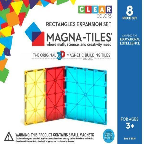 MAGNA-TILES Rectangles 8 Pc Expansion Set