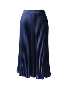 Midi Pleated Culotte | Navy