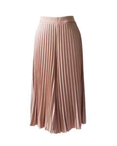 Midi Pleated Culotte | Nude
