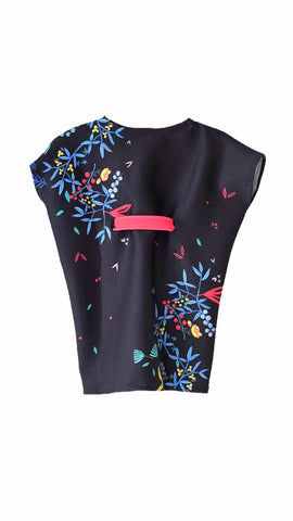 Mini Me Kimono Dress | Black Hana