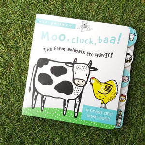 Moo Cluck Baa: A Press And Listen Book