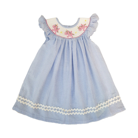 Uriela Unicorn Dress Blue