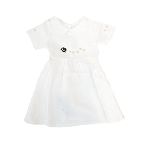 Daisy Linen Dress Porcupine