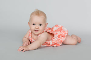Piper Romper | Peach Palm