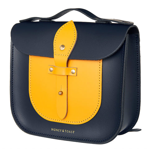 Rocket Scooter Satchel | Navy Blue & Sun Yellow