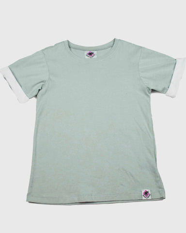 Unisex Roll Sleeve T-Shirt | Aqua