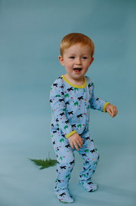 Blue Palm Eye Organic Pajamas