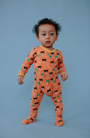Orange Palm Eye Organic Pajamas