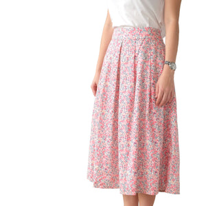 Vintage Pleated Skirt | Pink Berries