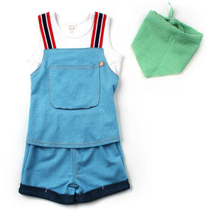 Unisex Overall Romper Shorts | Blue [Limited Edition]