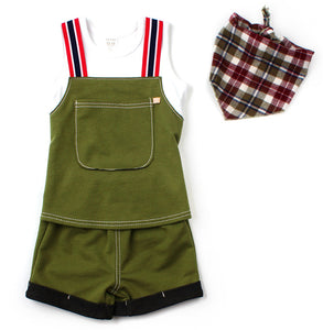 Unisex Overall Romper Shorts | Green [Limited Edition]