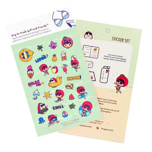 Ang Ku Kueh Girl and Red Egg Travel Series - Sticker Set