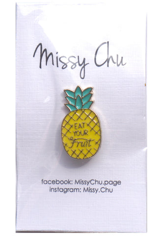 Foodie Enamel Pins - Pineapple