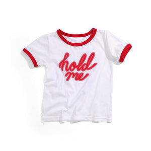 'Hold Me' T-Shirt - Red / White