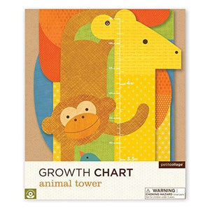 PETIT COLLAGE Animal Tower Folding Growth Chart