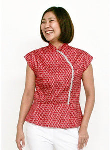 GROOVY Cheongsam Top | Red