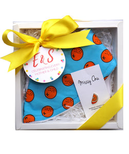 Orange Mini Foodie Box (Orange Bib + Orange Pin)