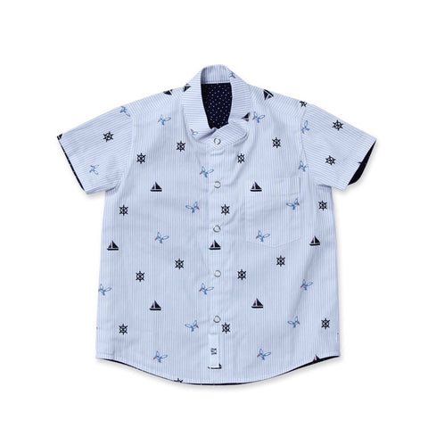 Reversible Shirt | Oceanscape (Navy)