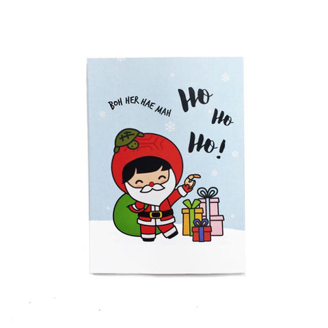 Ang Ku Kueh Girl 'Ho Ho Ho' Christmas Card