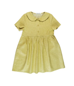 Peter Pan Collar Dress | Mustard Yellow