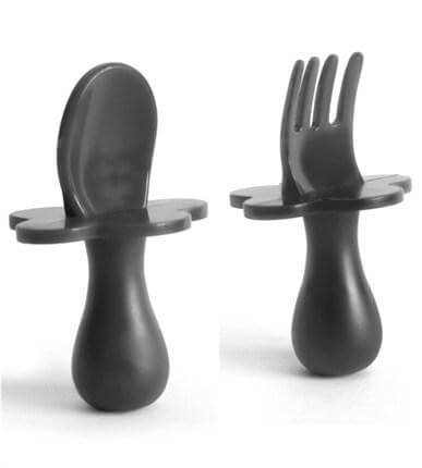 Grabease Spoon & Fork Set | Grey