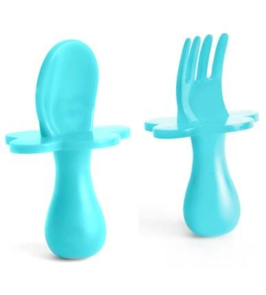 Grabease Spoon & Fork Set | Teal