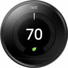 3rd Gen Nest Learning Thermostat - Black image 27712271175