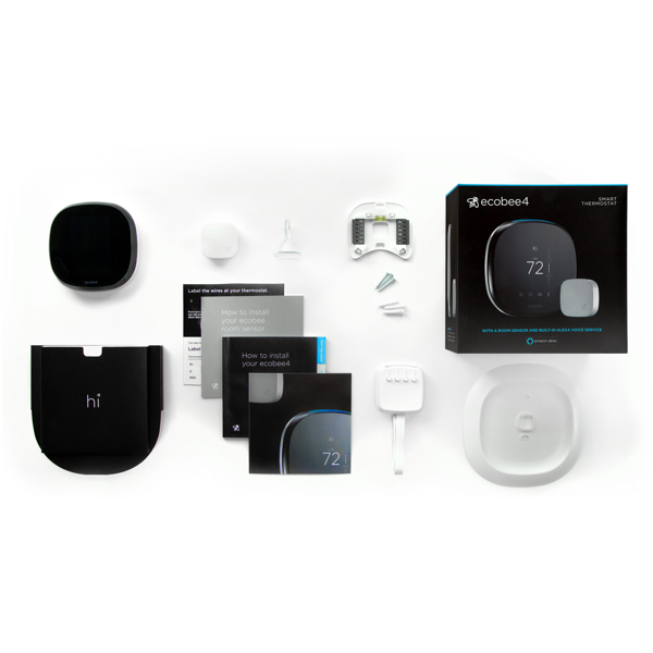 ecobee4 Smarter WiFi Thermostat + 2 Room Sensors image 27334797639