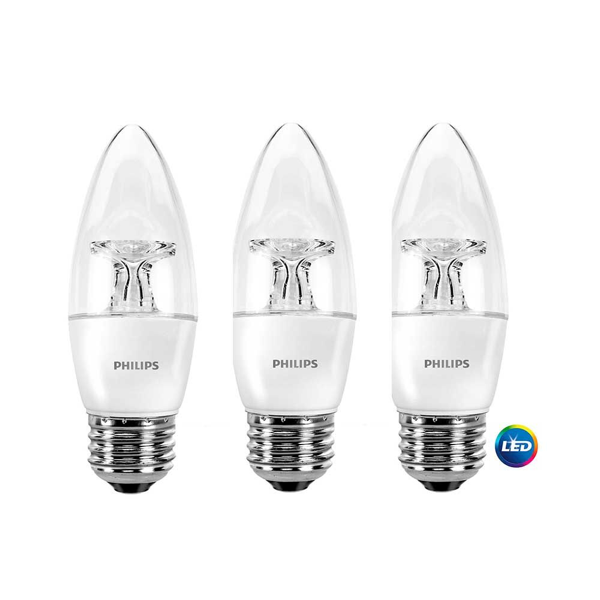 B11 Philips 4.5W Dimmable Candelabra Daylight White Med Base Indoor (6 Pack)