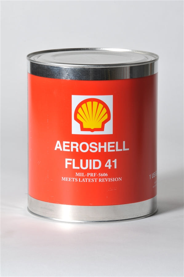 AeroShell Fluid 41 Mineral Hydraulic Oil - Case of 6 (1 Gallon)