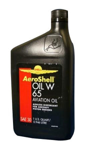 AeroShell W65 Ashless Dispersant Aircraft Oil - Case of 12 (1 qt)