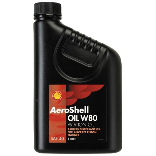 AeroShell W80 SAE40 Single Grade Ashless Dispersant Oil - Case of 12 (1 qt)