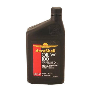 AeroShell W100 Aviation Oil 1 Quart - Case Of 12 (1 qt)