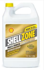 ShellZone Multi-Vehicle Extended Life  50/50  Antifreeze & Coolant - Case Of 6 (1 Gallon Containers)