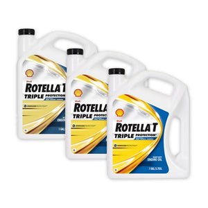 Shell Rotella T 5W-40 Fully Synthetic Heavy Duty Engine Oil - Case of 3 (1 Gallon)