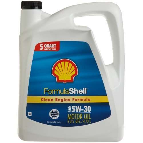 FormulaShell 5W-30 (SN/GF-5) Conventional Motor Oil - Case of 3 (5 qt)