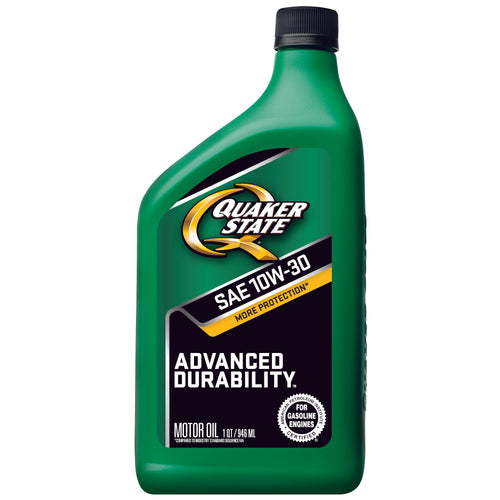 Quaker State Advanced Durability SAE 10W-30 Motor Oil - Case of 6 (1 qt)