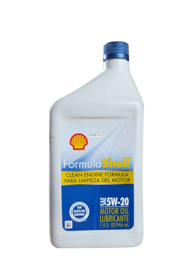 FormulaShell 5W-20 (SN/GF-5) Conventional Motor Oil - Case of 12 (1 qt)