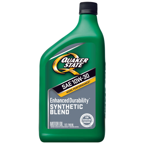 Quaker State Enhanced Durability SAE 10W-30 Synthetic Blend Motor Oil - Case of 6 (1 qt)