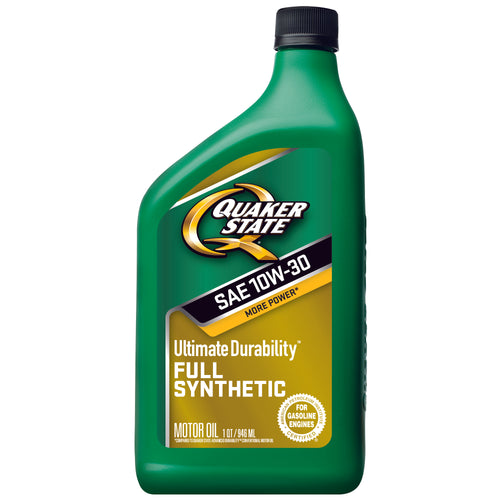 Quaker State Ultimate Durability SAE 10W-30 Full Synthetic Motor Oil - Case of 6 (1 qt)