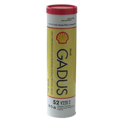 Shell Gadus S2 V220 2 High Performance Multipupose Extreme Pressure Grease - Case of 10 (14 oz Tubes)